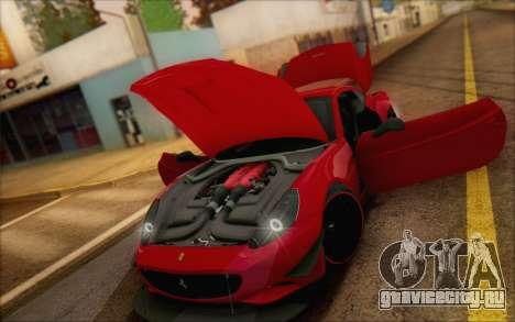 Ferrari California v2 для GTA San Andreas вид изнутри