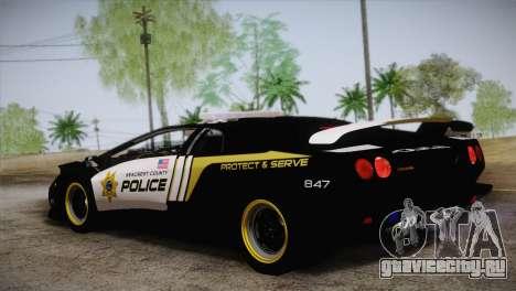 Lamborghini Diablo SV NFS HP Police Car для GTA San Andreas вид слева