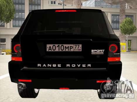 Range Rover Sport для GTA San Andreas вид сверху