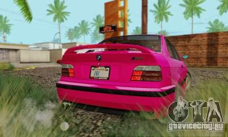 BMW E36 M3 1997 Stock для GTA San Andreas вид сзади слева