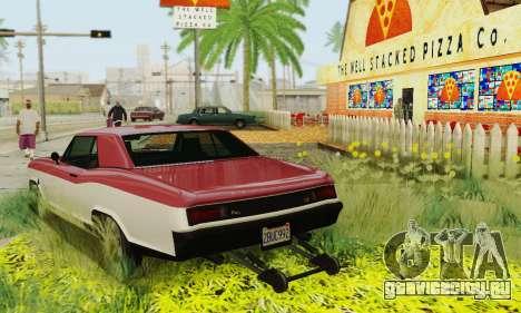 Gta 5 Buccaneer обновленная для GTA San Andreas вид снизу
