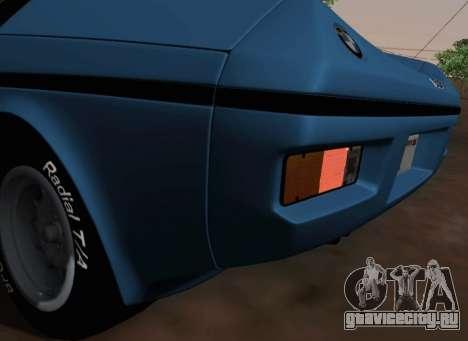 BMW M1 Turbo 1972 для GTA San Andreas вид сбоку