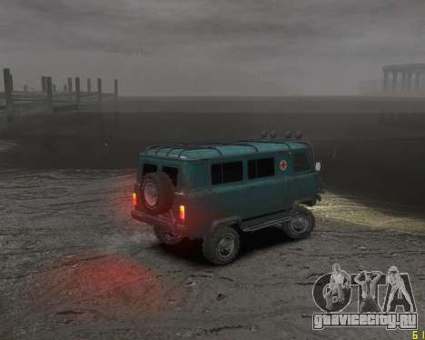 УАЗ-3962 OFF ROAD для GTA 4 вид сзади слева