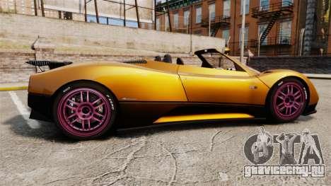 Pagani Zonda C12 S Roadster 2001 PJ2 для GTA 4 вид слева