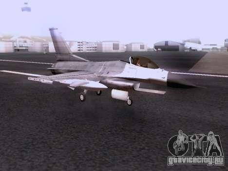 F-16 A для GTA San Andreas вид сзади