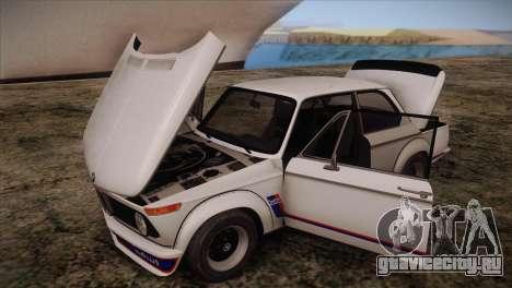 BMW 2002 1973 для GTA San Andreas вид изнутри