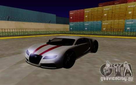 Gta 5 Truffade Adder для GTA San Andreas вид сзади слева