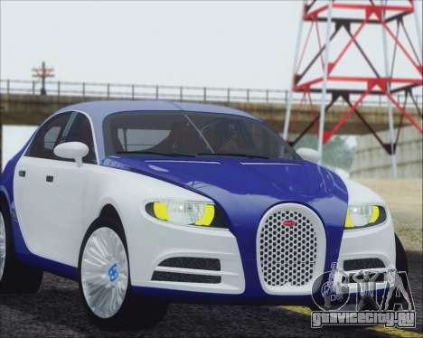 Bugatti Galibier 16c Final для GTA San Andreas вид сзади слева
