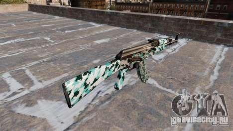 Автомат АК-47 Aqua Camo для GTA 4