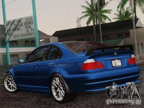 BMW M3 E46 GTR 2005 для GTA San Andreas вид слева