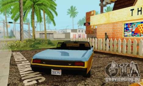 Gta 5 Buccaneer обновленная для GTA San Andreas вид сзади
