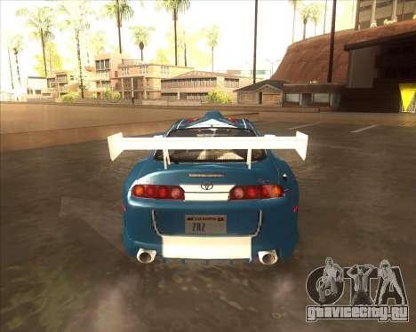 Toyota Supra из NFS Most Wanted для GTA San Andreas вид сзади слева