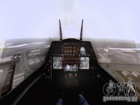 F-16 A для GTA San Andreas вид сзади слева