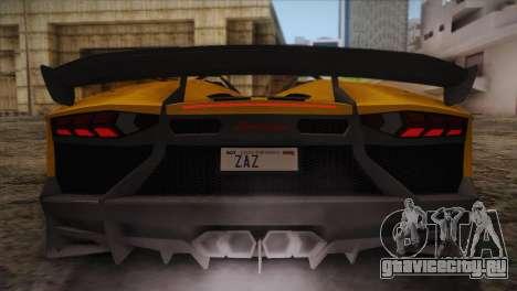 Lamborghini Aventandor J 2010 для GTA San Andreas колёса