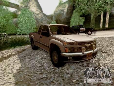 Chevrolet Colorado для GTA San Andreas вид сверху