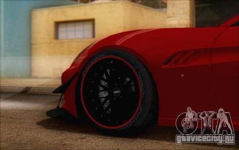 Ferrari California v2 для GTA San Andreas вид справа