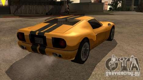 Bullet Restyle для GTA San Andreas вид сзади слева