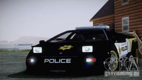 Lamborghini Diablo SV NFS HP Police Car для GTA San Andreas вид сзади слева