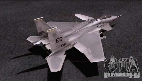 F-15S для GTA San Andreas вид изнутри