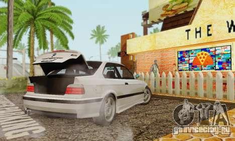 BMW E36 M3 1997 Stock для GTA San Andreas вид слева