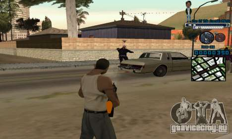 C-HUD One Of The Legends Ghetto для GTA San Andreas третий скриншот