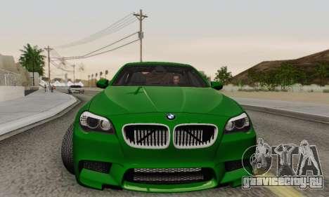 BMW F10 M5 2012 Stock для GTA San Andreas вид снизу