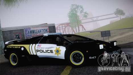 Lamborghini Diablo SV NFS HP Police Car для GTA San Andreas