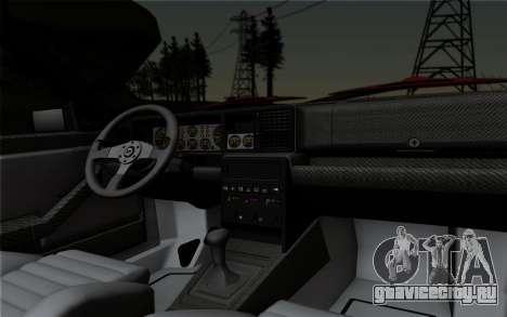 Lancia Delta HF Integrale Evo2 для GTA San Andreas вид изнутри