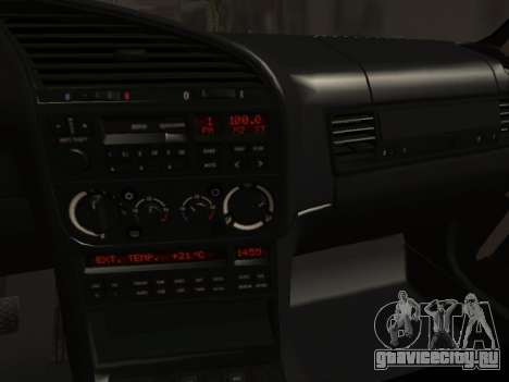 BMW M3 E36 Hellafail для GTA San Andreas вид изнутри