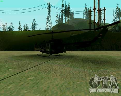 UH-1D Huey для GTA San Andreas вид справа