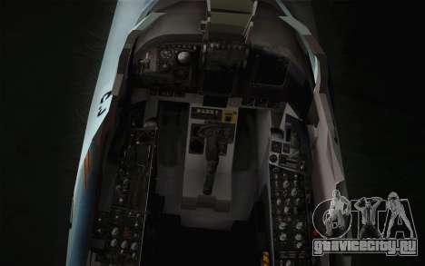 F-5E Tiger II для GTA San Andreas вид сзади