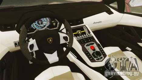 Lamborghini Aventador LP 700-4 Roadster [EPM] для GTA 4 вид изнутри