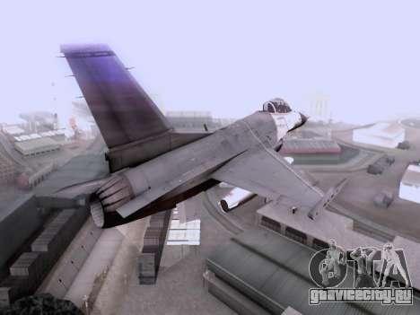F-16 A для GTA San Andreas вид слева
