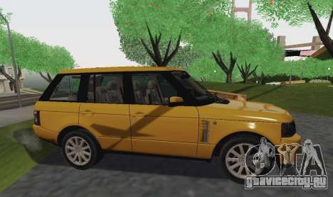 Range Rover Supercharged Series III для GTA San Andreas вид справа