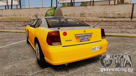 Bravado Buffalo Taxi для GTA 4 вид сзади слева