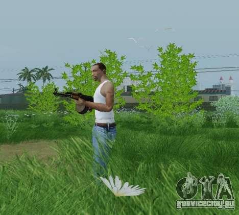 Ручной Пулемет Калашникова для GTA San Andreas второй скриншот