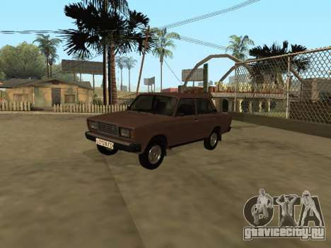 ВАЗ 2107 Ранняя версия для GTA San Andreas вид справа