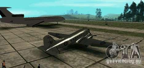 C-47 Дакота RAF для GTA San Andreas вид слева