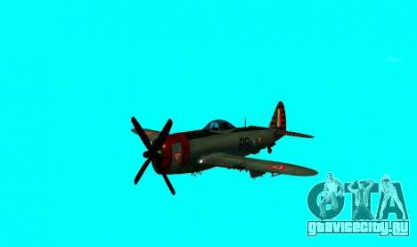 P-47 Тандерболт для GTA San Andreas вид сзади слева