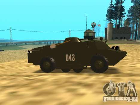 Гвардейская БРДМ-2 для GTA San Andreas вид сзади