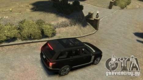 Range Rover Vogue 2014 для GTA 4 вид сзади слева