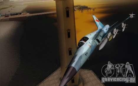 F-5E Tiger II для GTA San Andreas вид слева