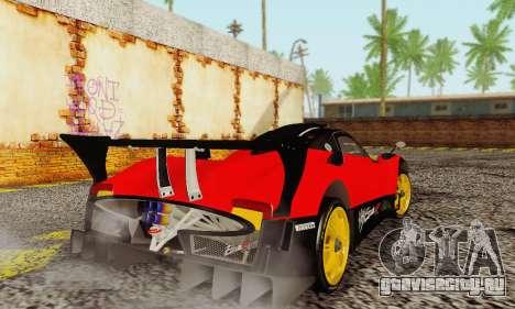 Pagani Zonda Type R Red для GTA San Andreas вид справа