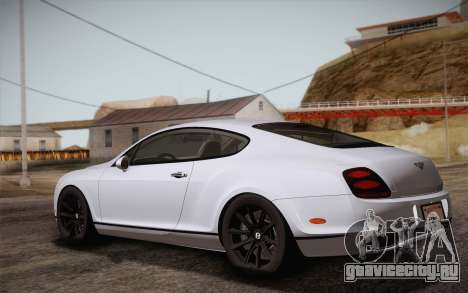 Bentley Continental SuperSports 2010 v2 Finale для GTA San Andreas вид слева