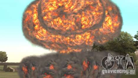Ядерный удар для GTA San Andreas третий скриншот