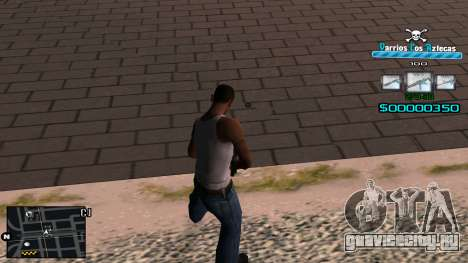 C-HUD RJ Aztecaz для GTA San Andreas второй скриншот