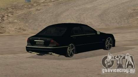 Mercedes-Benz S65 AMG для GTA San Andreas вид сверху