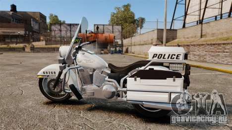 GTA V Western Motorcycle Police Bike для GTA 4 вид слева