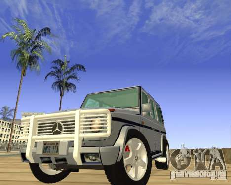 Mercedes-Benz G500 Brabus для GTA San Andreas вид сзади