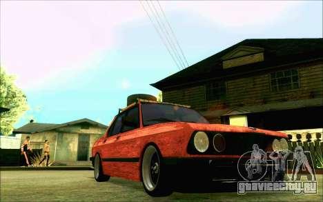 BMW M5 E28 RatStyle для GTA San Andreas вид изнутри